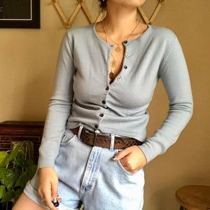 Vintage Sweaters - ⌈Vintage⌋ Gap 100% Merino Wool Cardigan